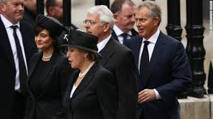 Tony Blair at John Smith's funeral before taking over the Labour Party with his New Labour cronies.