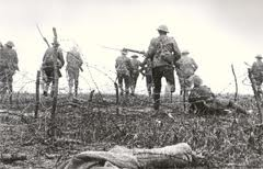 During World War One it was falsely claimed that the Germans were gassing prisoners.