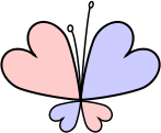 The butterfly logo is constructed out of four hearts: a big blue for man, a big pink for woman, a small blue for boy, a small pink for girl. The butterfly logo is used by paedophile organizations all over the world.