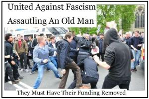 Public gang punishment beatings by the UAF are now the norm for British Nationalists in multicultural Britain. Despite video evidence hardly anyone is ever prosecuted.