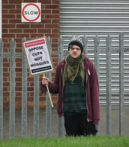 Typical unwashed white anti-fascist demonstrator.