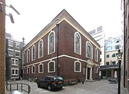 The Bevis Marks synagogue in the City of London.