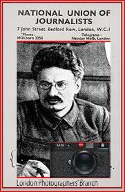 The National Union of Journalists ( Labour affiliated ) featured Trotsky.
