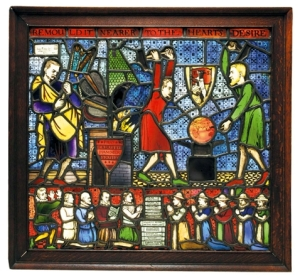Fabian Society stained glass window unveiled by Fabian Member Tony Blair in LSE in 2006.