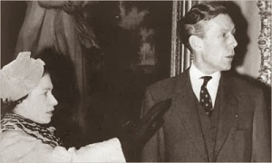 The Queen and her cousin Anthony Blunt. Blunt claimed the Royal Family were secretly jewish.