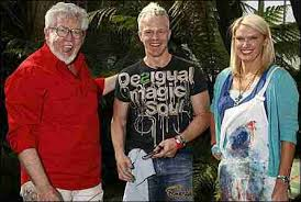 Mark Speight with Rolf Harris.