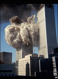 The South Tower collapses.