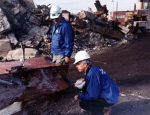 Dr. W. Gene Corley at Ground Zero.