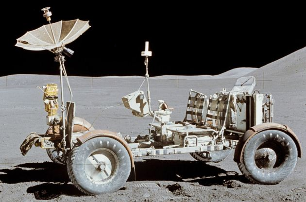 LRV from Apollo 15 mission allegedly photographed on the Moon in 1971.
