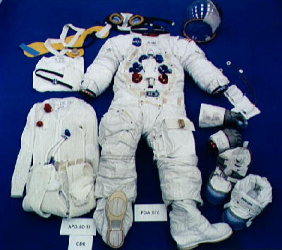 NASA's officially released photograph of the Apollo Missions Space Suit.
