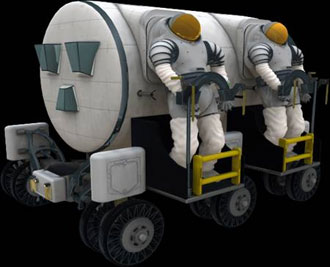 NASA diagram of the rear-entry spacesuit it has designed for future Moon landings.