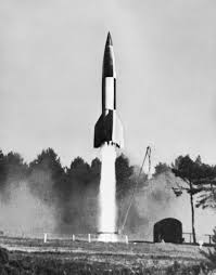 One of von Braun's V-2 Nazi rockets from World War Two.